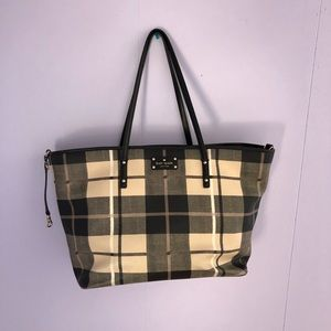 Kate Spade Black Plaid Diaper Bag